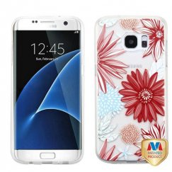 Samsung Galaxy S7 Edge Spring Daisies Glassy SPOTS Premium Candy Skin Cover