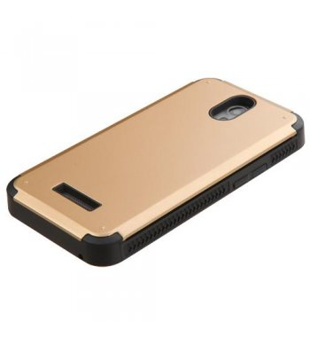 ZTE Obsidian Gold Inverse Advanced Armor Stand Protector Cover(With Card Wallet)