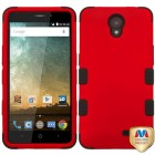 ZTE Avid Plus / Maven 2 Titanium Red/Black Hybrid Case