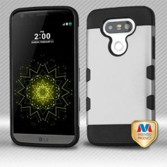 LG G5 Rubberized Space Silver/Black Hybrid Case