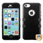 Apple iPhone 5c Rubberized Black/Black Hybrid Phone Protector Cover