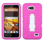 ZTE Speed White/Hot Pink Symbiosis Stand Case with Diamonds
