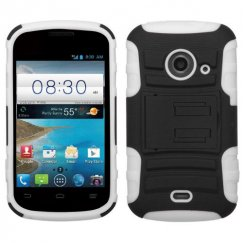 ZTE Prelude 2 / Zinger Black/Solid White Advanced Armor Stand Case