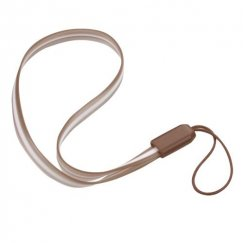 (5PCS)Coffee TPU Lanyard (7.5inch)