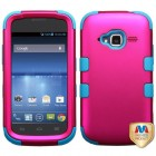 ZTE Concord 2 Titanium Solid Hot Pink/Tropical Teal Hybrid Case