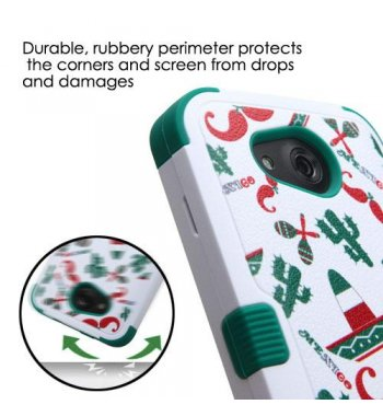Kyocera Wave / Hydro Air Mexican Sombrero and Cactus/Forest Green Hybrid Protector Cover