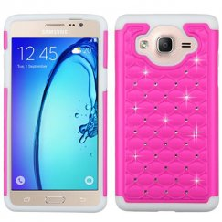 Samsung Galaxy On5 Hot Pink/Solid White FullStar Case