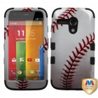 Motorola Moto G Baseball-Sports Collection/Black Hybrid Phone Protector Cover