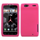 Motorola Droid RAZR Solid Skin Cover - Hot Pink