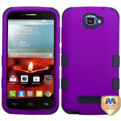 Alcatel One Touch Fierce 2 Rubberized Grape/Black Hybrid Case