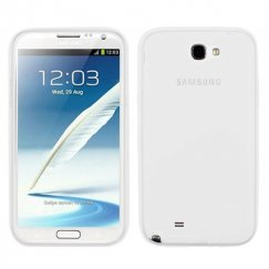 Samsung Galaxy Note 2 Solid Skin Cover - Translucent White