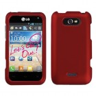 LG Motion 4G Titanium Solid Red Phone Protector Cover