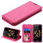 LG K8 / Phoenix 2 Hot Pink Wallet with Tray