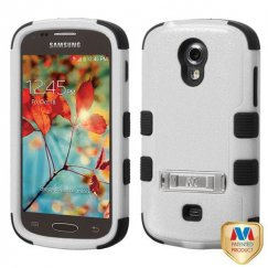 Samsung Galaxy Light Natural Gray/Black Hybrid Case with Stand