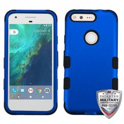 Google Pixel XL Titanium Dark Blue/Black Hybrid Case - Military Grade