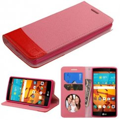 LG LS751 Volt 2 Pink/Red wallet with Card Slot