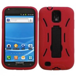 Samsung Galaxy S2 Black/Red Symbiosis Stand Case