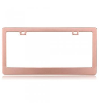 Matte Rose Gold License Plate Frame