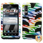 Motorola Droid 3 Colorful Zebra /Black Fishbone Phone Protector Cover