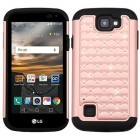 LG K3 Rose Gold/Black FullStar Protector Cover
