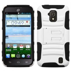 ZTE Solar White/Black Advanced Armor Stand Case
