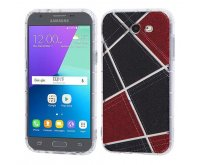 Samsung Galaxy J3 Denim Irregular Geometric Design Candy Skin Cover