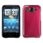 HTC Inspire 4G Red brushedMETAL Cosmo Back Protector Cover