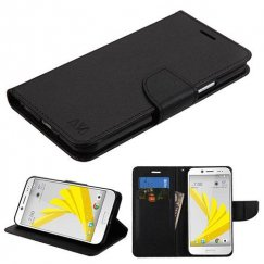HTC Bolt Black Pattern/Black Liner wallet with Card Slot