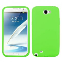 Samsung Galaxy Note 2 Solid Skin Cover - Electric Green