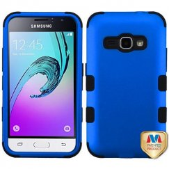 Samsung Galaxy J1 Titanium Dark Blue/Black Hybrid Case