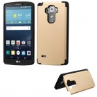 LG G Vista 2 Gold Inverse Advanced Armor Stand Case with Card Wallet