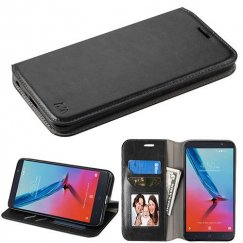 ZTE Blade Z Max / Sequoia Z982 Black Wallet with Tray