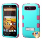 ZTE Speed Natural Teal Green/Electric Pink Hybrid Case with Stand