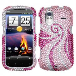 HTC Amaze 4G Phoenix Tail Diamante Case