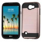 LG K3 Rose Gold/Black Brushed Hybrid Protector Cover