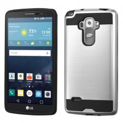LG G Vista 2 Silver/Black Brushed Hybrid Case