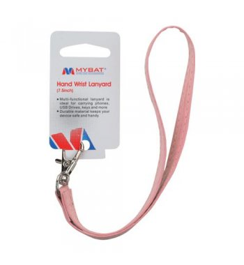 (5PCS) Pink Leather Hand Wrist Lanyard (Metal Lobster Clip) (7.5inch)