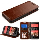 HTC Desire 626 Brown Wallet with Tray
