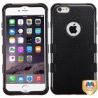 Apple iPhone 6/6s Plus Carbon Fiber/Black Hybrid Case