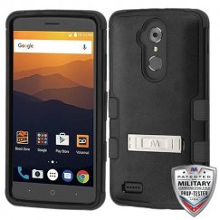 ZTE Blade Max 3 / Max XL Natural Black/Black Hybrid Case with Stand
