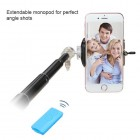 Blue Selfie Stick (with Black Mobile Monopod)(for iOS & Android)