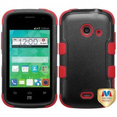 ZTE Prelude 2 / Zinger Natural Black/Red Hybrid Case