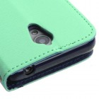 ZTE Obsidian Teal Green Pattern/Dark Blue Liner wallet (with card slot)
