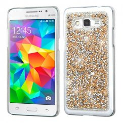 Samsung Galaxy Grand Prime Rose Gold Mini Crystals Rhinestones Desire Back Case