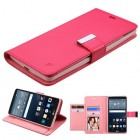 LG G Stylo Hot Pink/Pink PU Leather Wallet with extra card slots