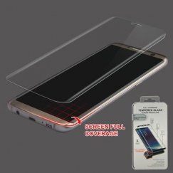Samsung Galaxy S8 Plus Full Caseage Tempered Glass Screen Protector/Transparent