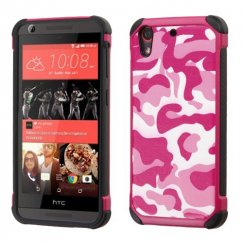 HTC Desire 626 Hot Pink Camo/Black Astronoot Case