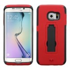 Samsung Galaxy S6 Edge Black/Red Symbiosis Stand Protector Cover