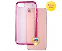 Hot Pink Glassy Rose Gold SPOTS Electroplated Premium Candy Skin Cover