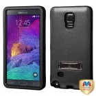 Samsung Galaxy Note 4 Natural Black/Black Hybrid Case with Stand